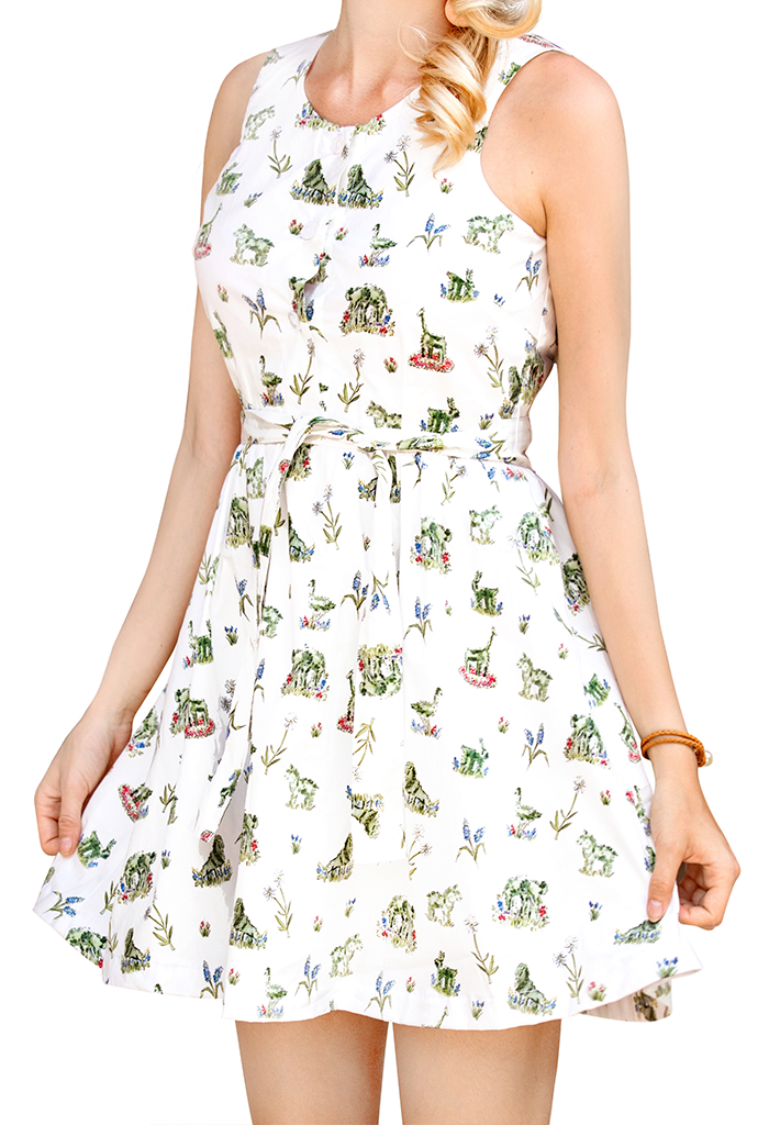 Newport Topiary Gardens Mini Dress