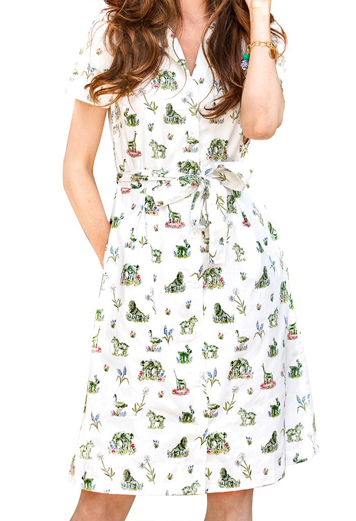 Newport Topiary Gardens Shirtdress