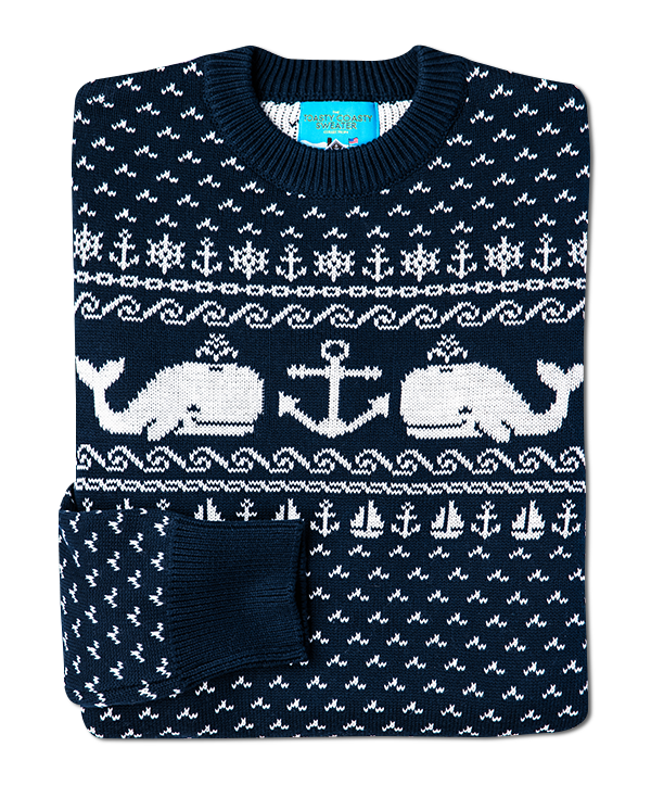 Whale and Anchor Sweater