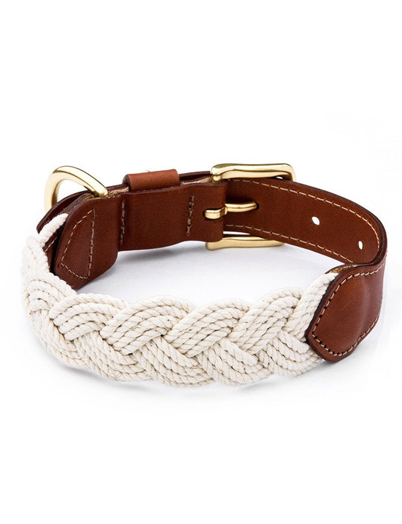 The Knotty Dog Collar- White