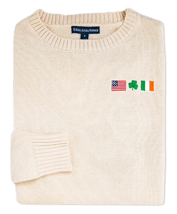 Embroidered Irish American Sweater (Women's)