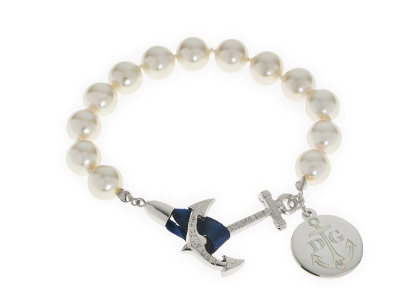 Charlotte's Pearls - Kiel James Patrick Anchor Bracelet Made in the USA