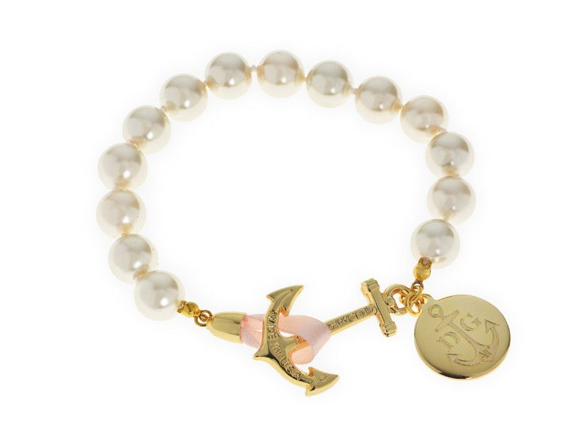 Atlantic Pearls - Kiel James Patrick Anchor Bracelet Made in the USA