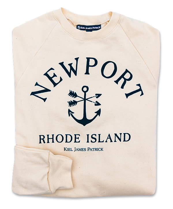 Newport Anchor Cream Sweatshirt