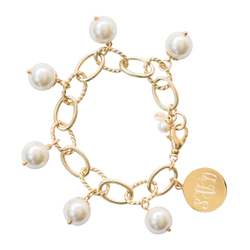 Pearl Drop Chain Bracelet