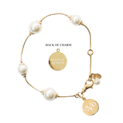 Pearlfection Monogram Wedding Bracelet