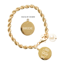 Oceana Monogram Wedding Bracelet