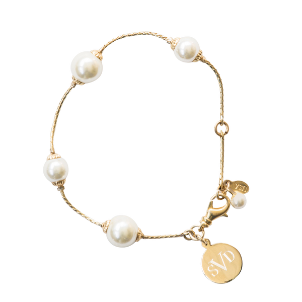 Pearlfection Monogram Bracelet