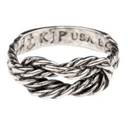Antique Sailor Knot Ring - Silver