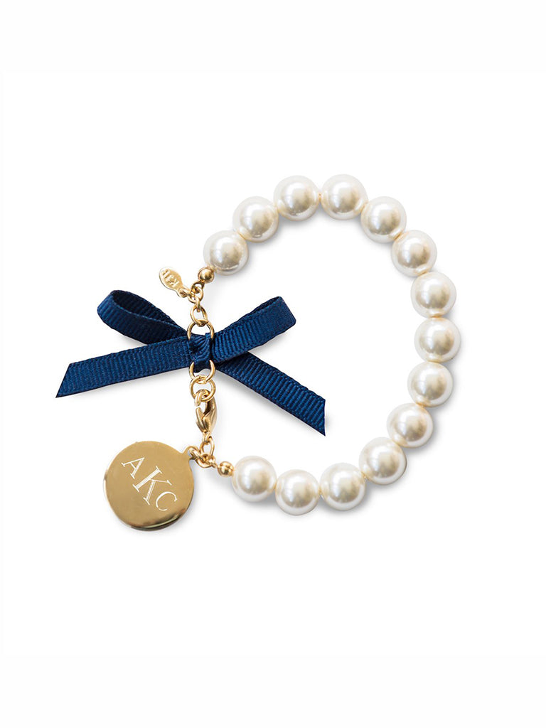 692fc62b2a309e Classy Girls Wear Pearls Monogram Bracelet - Kiel James Patrick Anchor  Bracelet Made in the USA