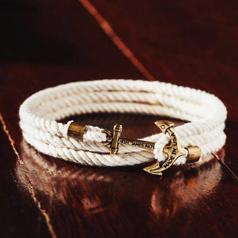 Atlantic Whalers - Kiel James Patrick Anchor Bracelet Made in the USA