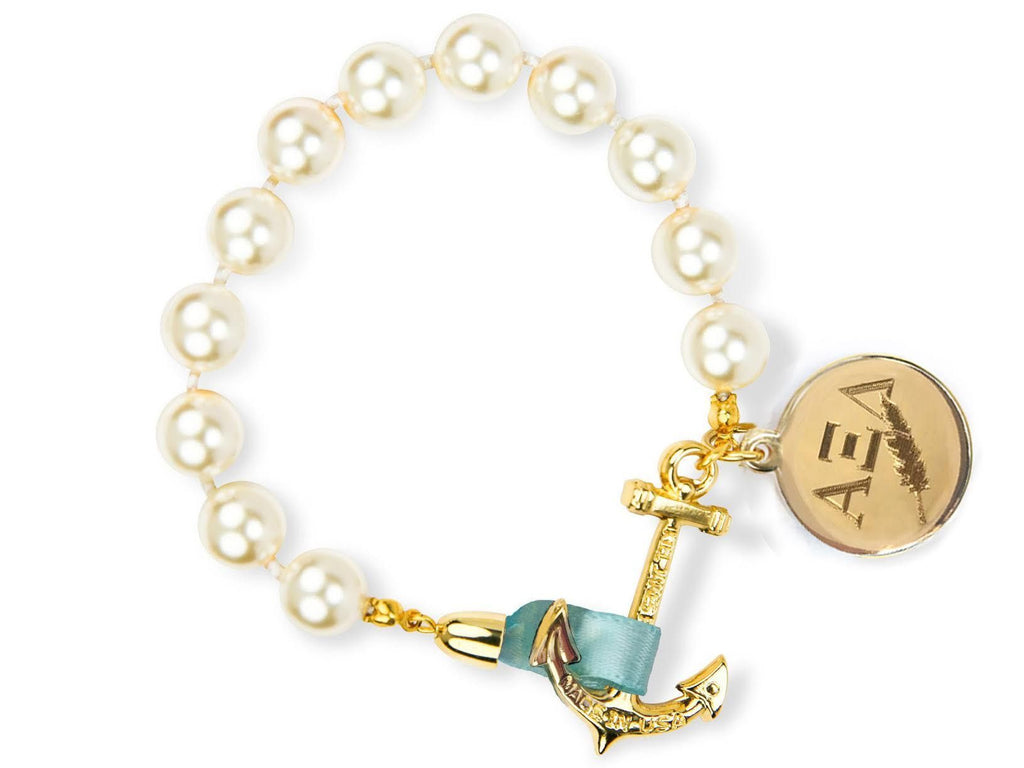 Emma Mason - Alpha Xi Delta - Kiel James Patrick Anchor Bracelet Made in the USA