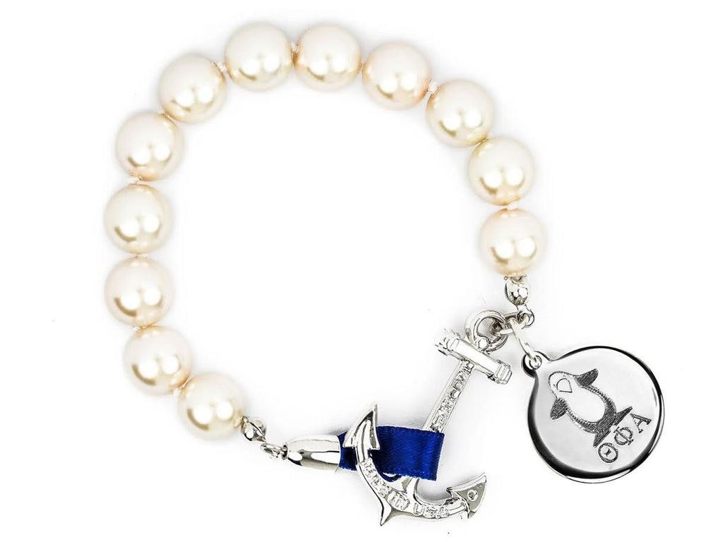 Charlotte - Theta Phi Alpha - Kiel James Patrick Anchor Bracelet Made in the USA