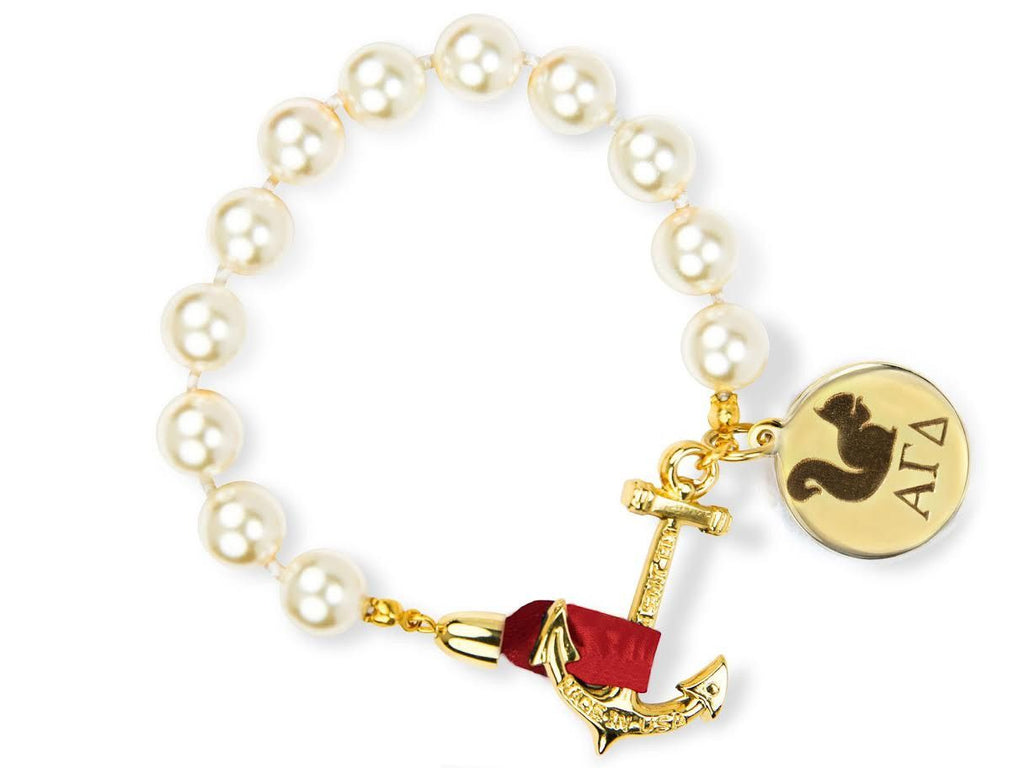 Darlin' Valentino - Alpha Gamma Delta - Kiel James Patrick Anchor Bracelet Made in the USA