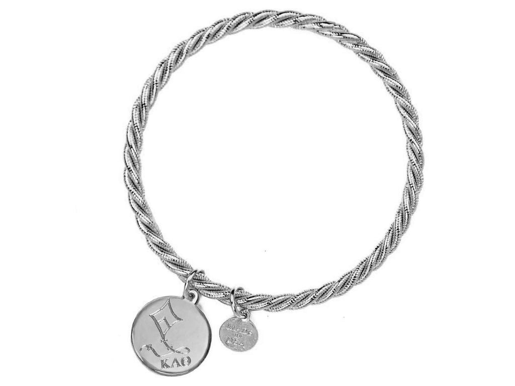 Braided Together - Kappa Alpha Theta - Kiel James Patrick Anchor Bracelet Made in the USA