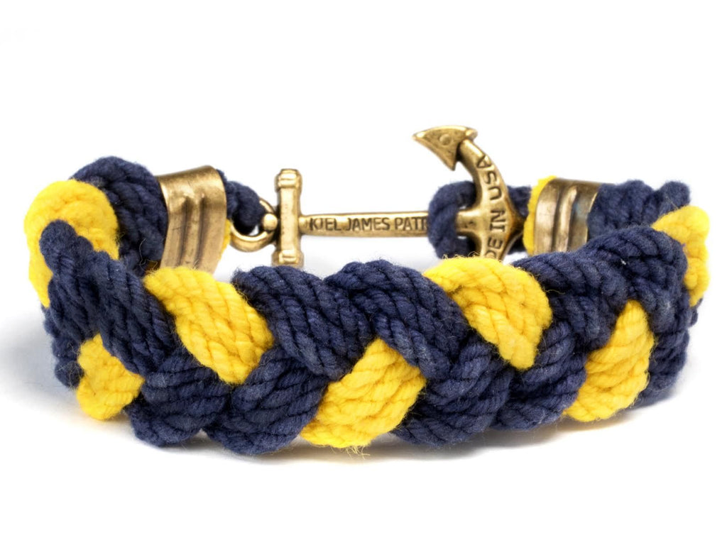 Gold Sphinx - Kiel James Patrick Anchor Bracelet Made in the USA