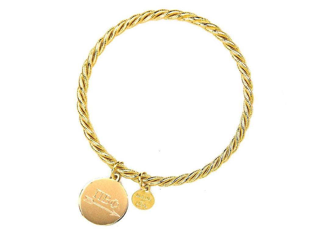 Braided Together - Pi Beta Phi - Kiel James Patrick Anchor Bracelet Made in the USA