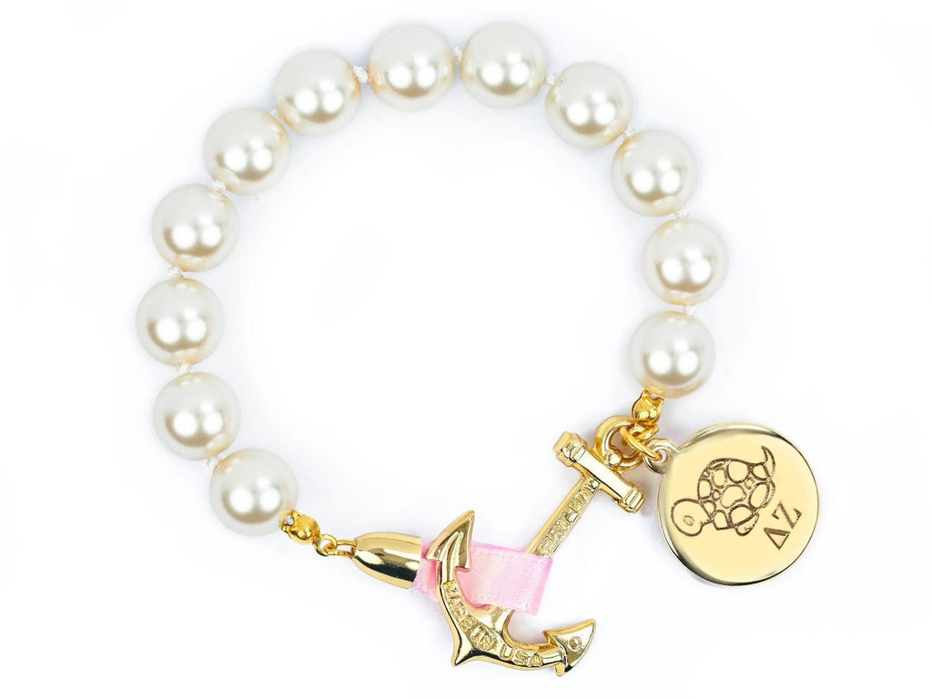 Atlantic Pearl - Delta Zeta - Kiel James Patrick Anchor Bracelet Made in the USA