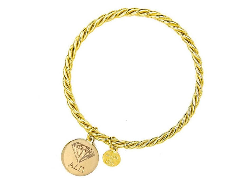 Braided Together - Alpha Delta Pi - Kiel James Patrick Anchor Bracelet Made in the USA