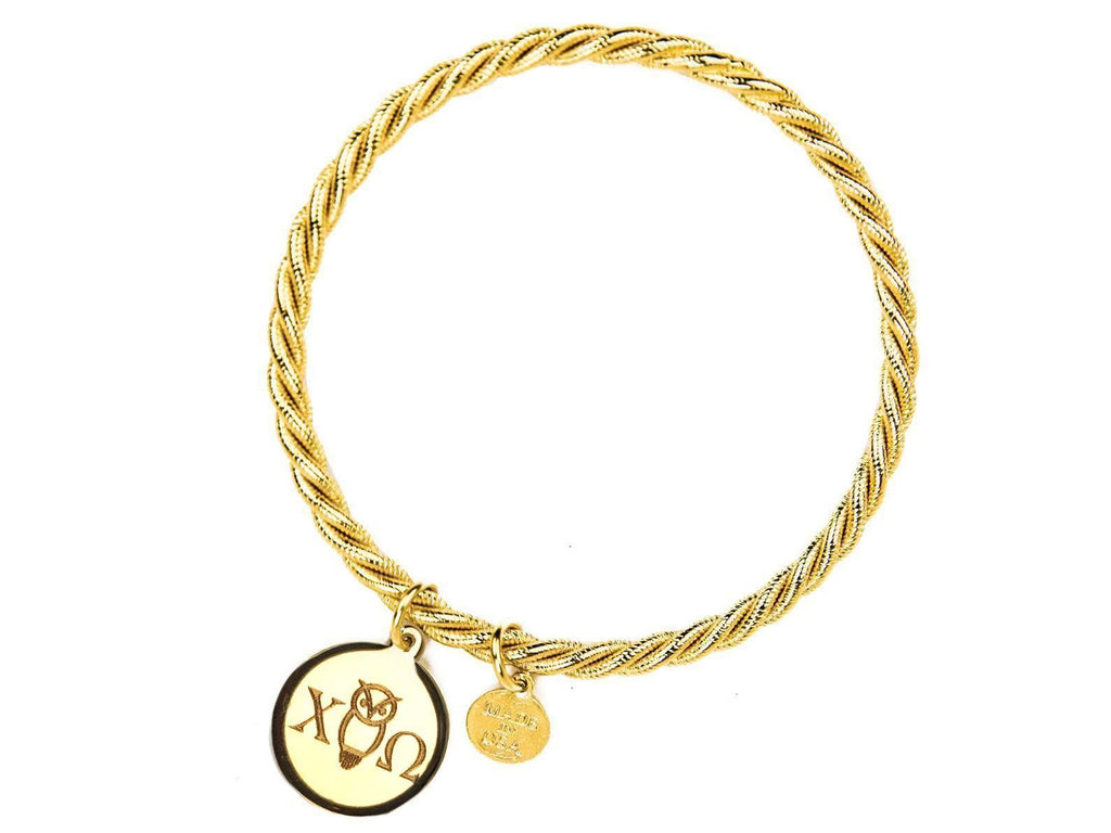 Braided Together - Chi Omega - Kiel James Patrick Anchor Bracelet Made in the USA