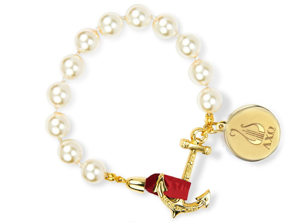 Darlin' Valentino - Alpha Chi Omega - Kiel James Patrick Anchor Bracelet Made in the USA