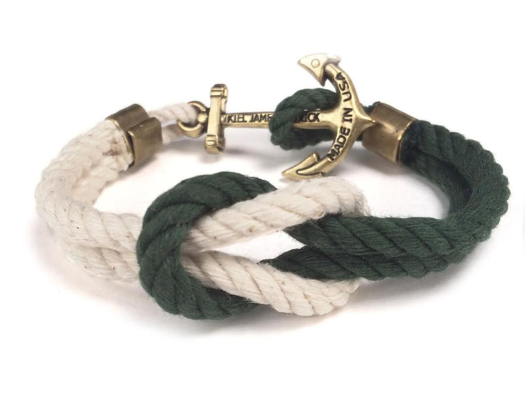 Aspire, Seek, Attain - Kiel James Patrick Anchor Bracelet Made in the USA