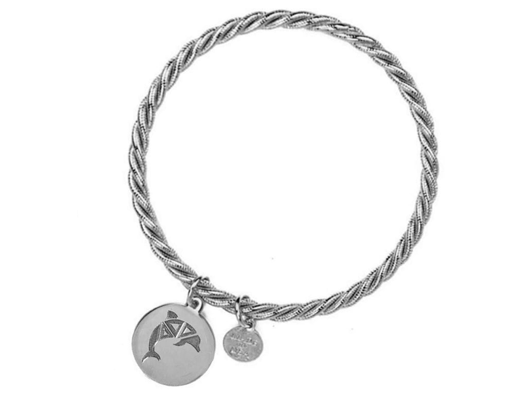 Braided Together - Delta Delta Delta - Kiel James Patrick Anchor Bracelet Made in the USA