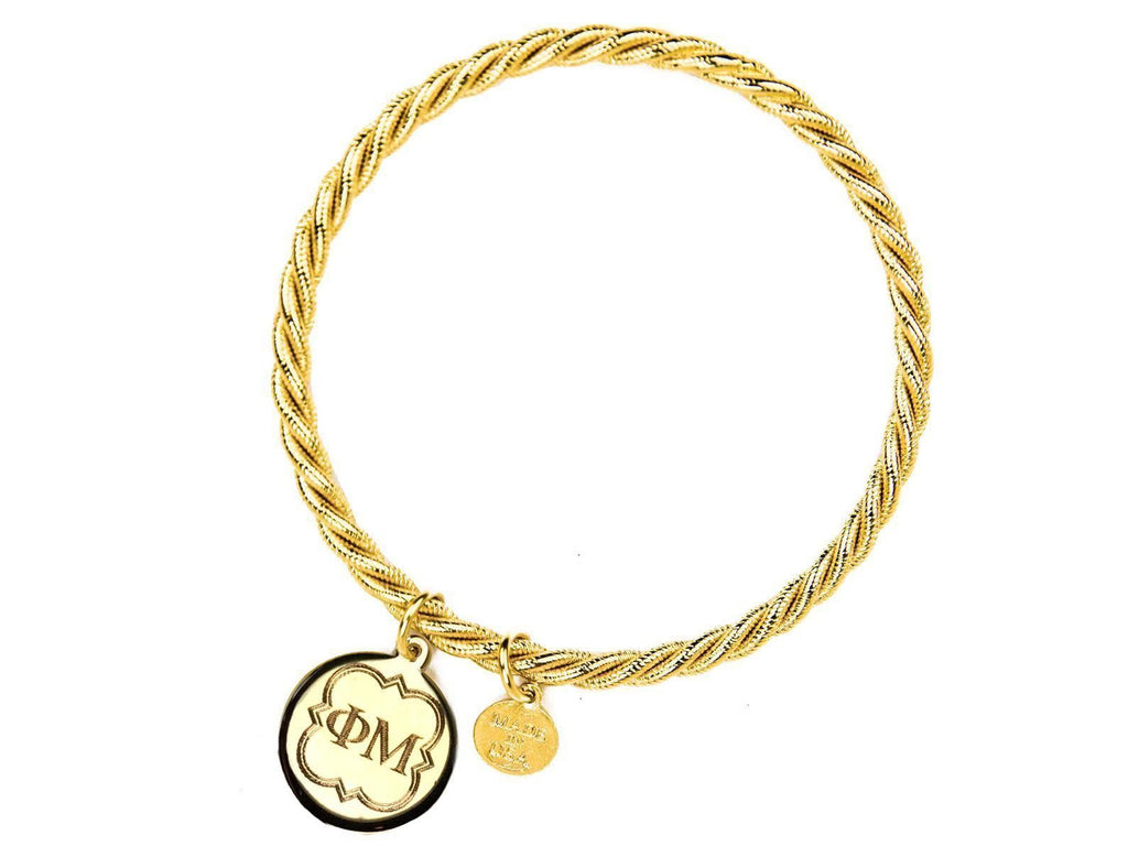 Braided Together - Phi Mu - Kiel James Patrick Anchor Bracelet Made in the USA