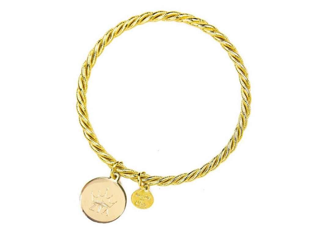 Braided Together - Zeta Tau Alpha - Kiel James Patrick Anchor Bracelet Made in the USA