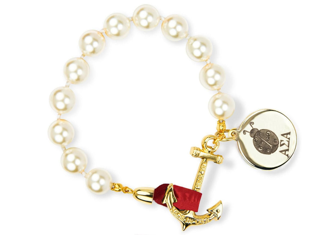 Darlin' Valentino - Alpha Sigma Alpha - Kiel James Patrick Anchor Bracelet Made in the USA