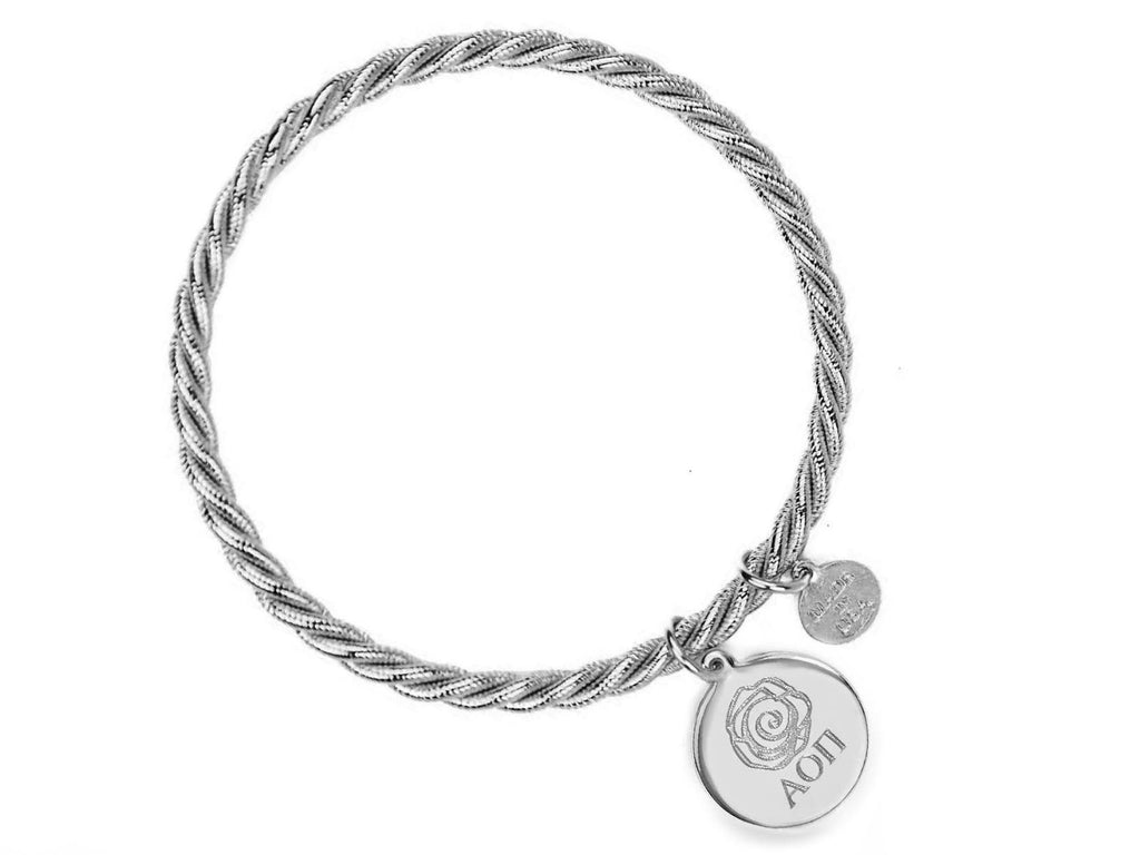 Braided Together - Alpha Omicron Pi - Kiel James Patrick Anchor Bracelet Made in the USA