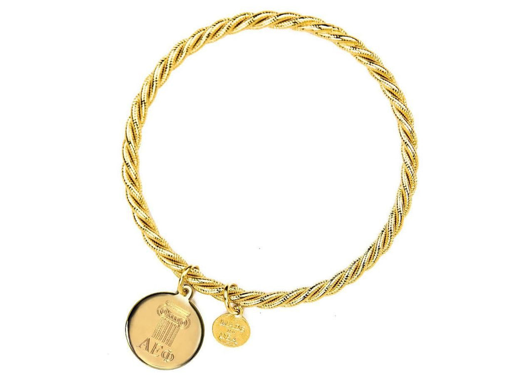 Braided Together - Alpha Epsilon Phi - Kiel James Patrick Anchor Bracelet Made in the USA