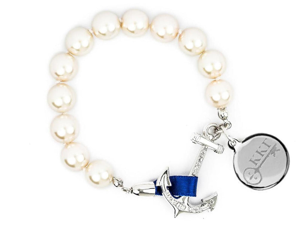 Charlotte - Kappa Kappa Gamma - Kiel James Patrick Anchor Bracelet Made in the USA