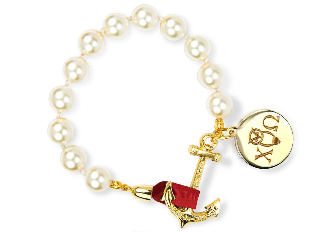 Darlin' Valentino - Chi Omega - Kiel James Patrick Anchor Bracelet Made in the USA