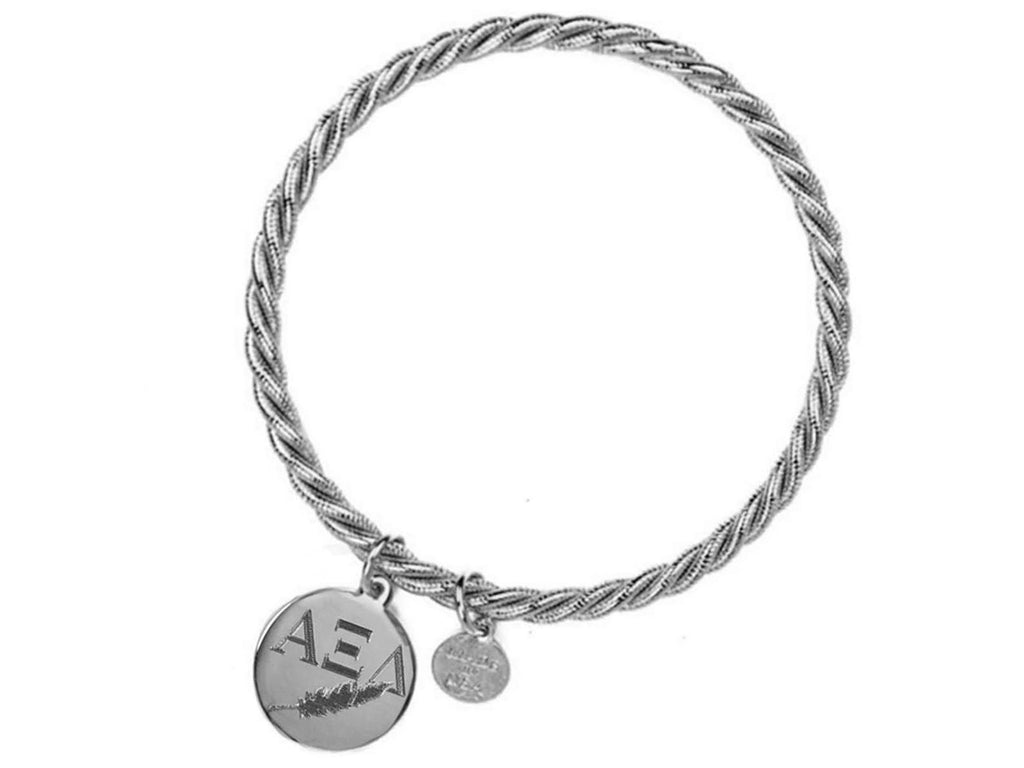 Braided Together - Alpha Xi Delta - Kiel James Patrick Anchor Bracelet Made in the USA