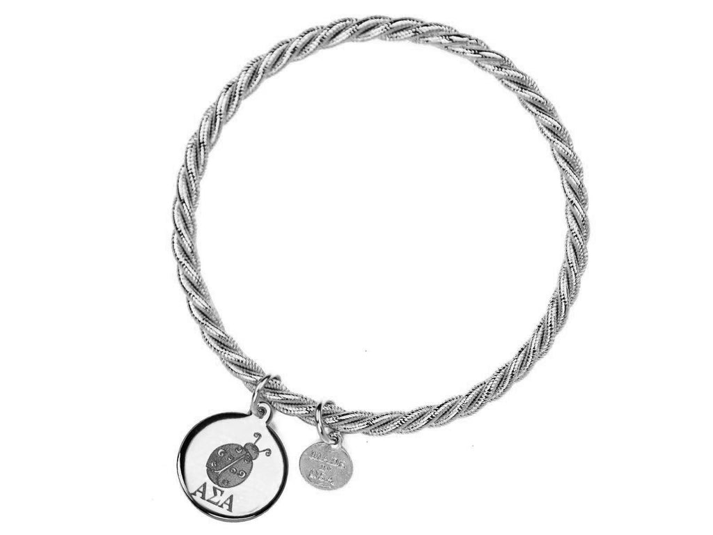 Braided Together - Alpha Sigma Alpha - Kiel James Patrick Anchor Bracelet Made in the USA