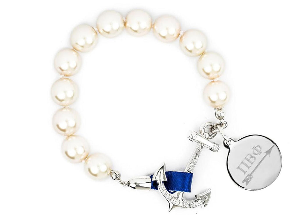 Charlotte - Pi Beta Phi - Kiel James Patrick Anchor Bracelet Made in the USA
