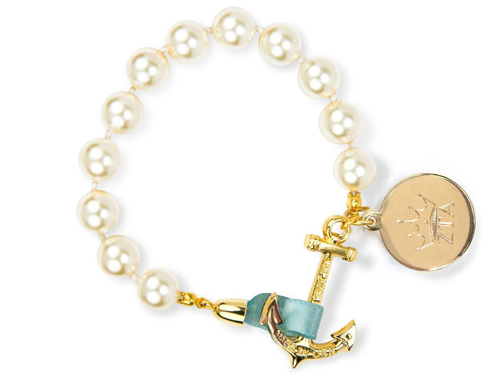 Emma Mason - Zeta Tau Alpha - Kiel James Patrick Anchor Bracelet Made in the USA