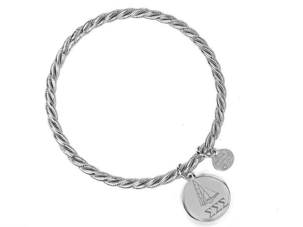 Braided Together - Sigma Sigma Sigma - Kiel James Patrick Anchor Bracelet Made in the USA