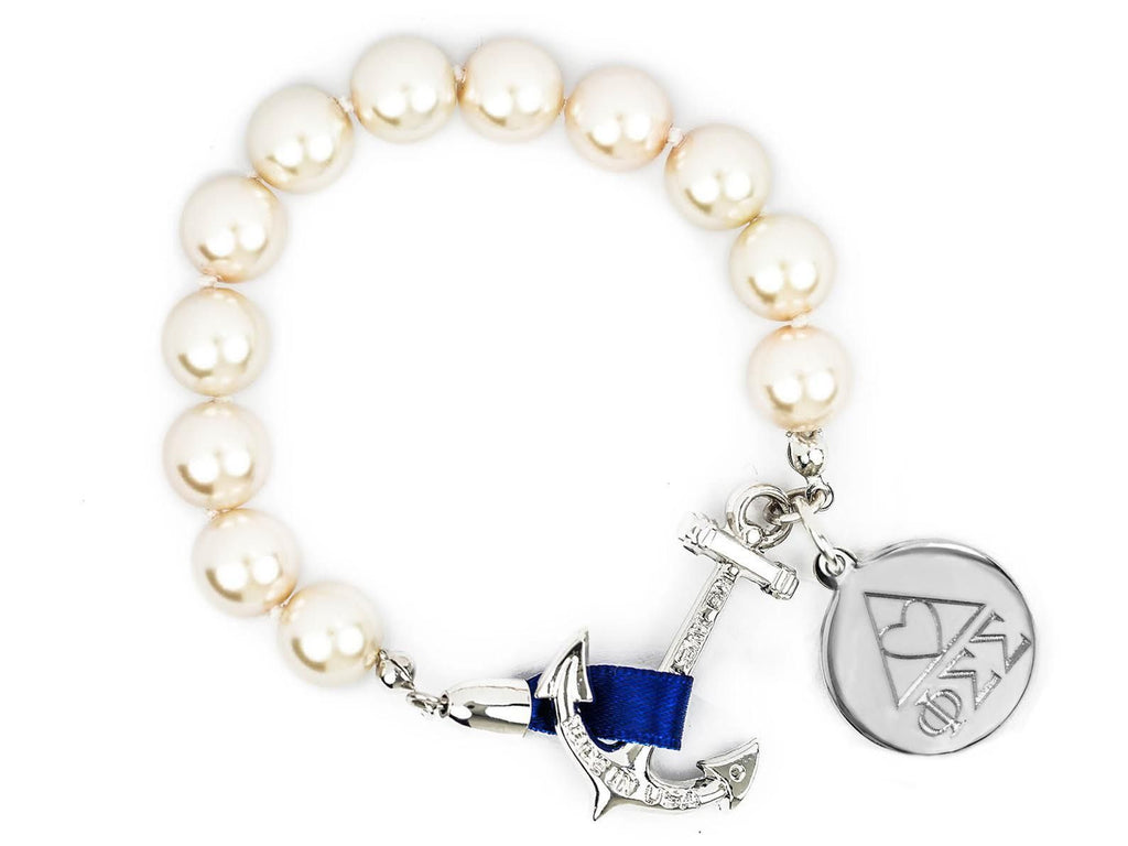 Charlotte - Phi Sigma Sigma - Kiel James Patrick Anchor Bracelet Made in the USA