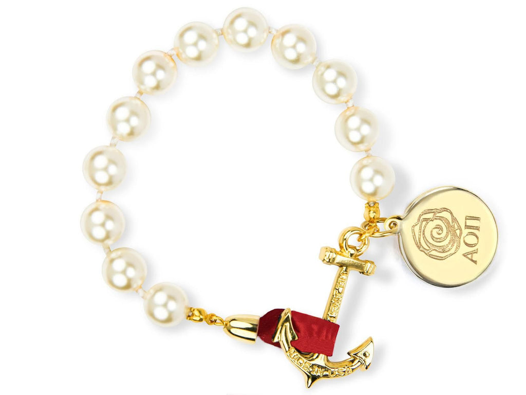Darlin' Valentino - Alpha Omicron Pi - Kiel James Patrick Anchor Bracelet Made in the USA