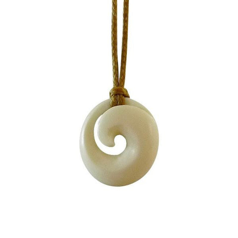 Bone Koru Pendants