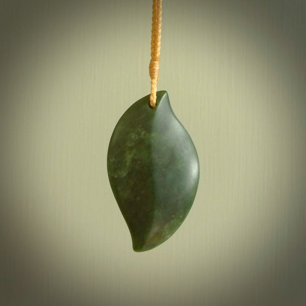 Hand carved contemporary jade jewellery. Made by NZ Pacific from New Zealand greenstone. Authentic jade jewellery for sale online. These are a beautiful and feminine necklace and would make the perfect gift for the women in your life.