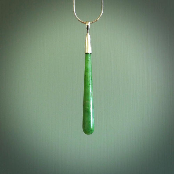 Hand carved jade drop pendants. These little pendants have been carved from Indonesian jade by NZ Pacific. We sell these on our website and deliver these to you with no extra cost for postage.