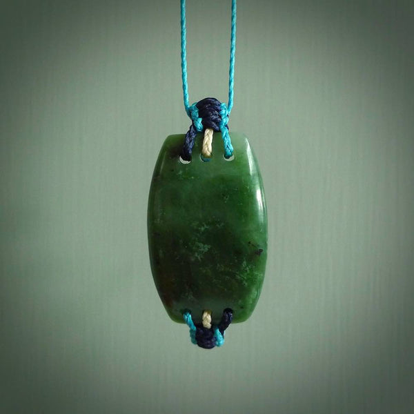 Manaia, marsden flower jade, carved by Ross Crump, hand carved jade pendant.
