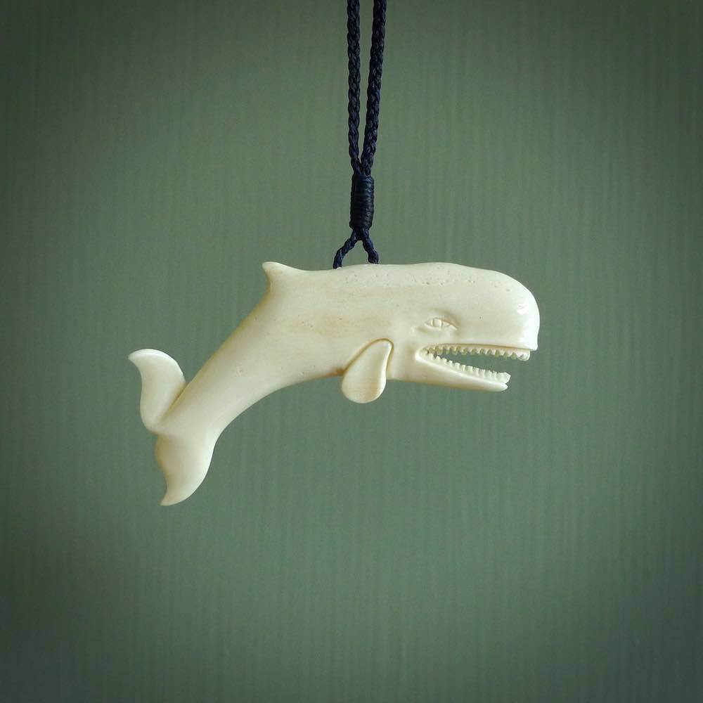 Bone Whale Pendant Hand Carved Bone Necklace For Ocean Lovers Nz Pacific