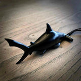 Black jade shark pendant. Hand carved by NZ Pacific. Jade jewellery for sale online.