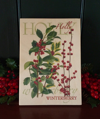 Holly Berries - art board