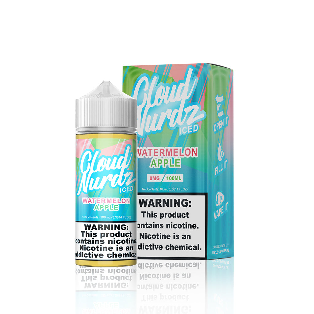 Watermelon Apple - Cloud Nurdz Iced E Liquid