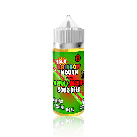 Apple and Berries Sour Belts - Rainbow Mouth E Liquid